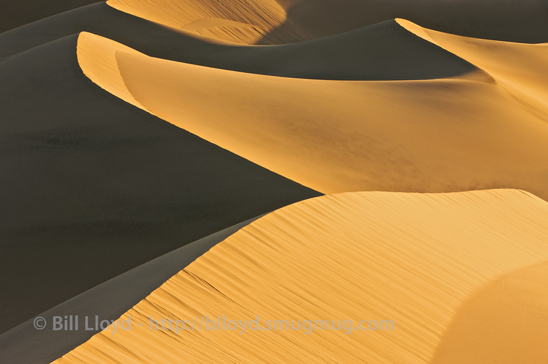 Dunes at sunrise, Mesquite Dunes, Death Valley National Park.